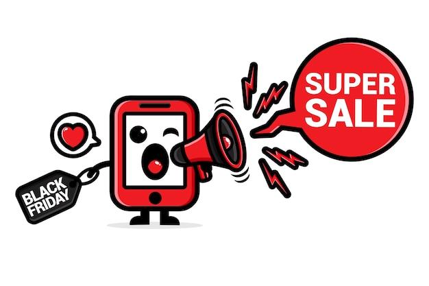 Mignon téléphone portable avec mégaphone hurlant super vente