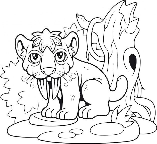 Mignon tigre à dents de sabre