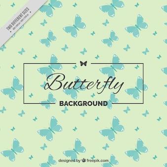 Mignon vintage background de papillons