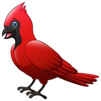 Mignonne une caricature d'oiseau cardinal
