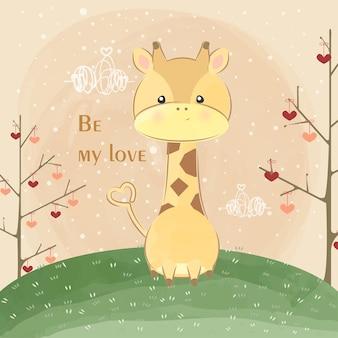 Mignonne petite girafe soit mon amour