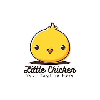 Mignonne petite icône de vecteur de poulet
