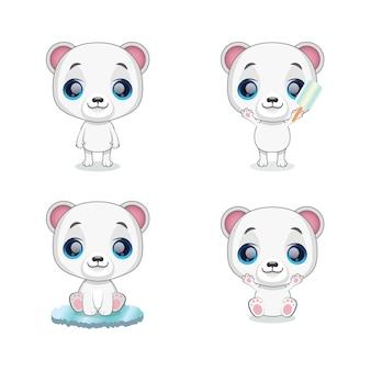 Mignonne petite mascotte ours polaire