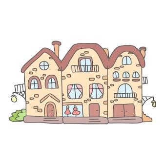 Mignonnes maisons de griffonnage
