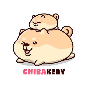Mignons chiens forme de pain cartoon