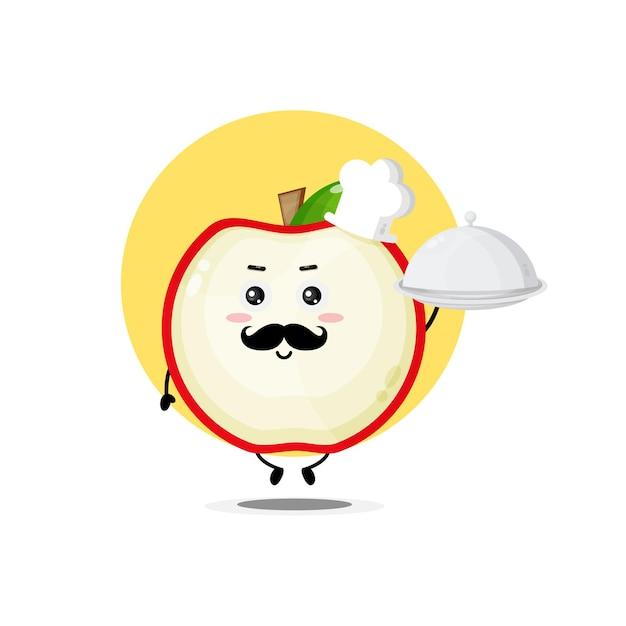 De mignons personnages de pomme deviennent chef