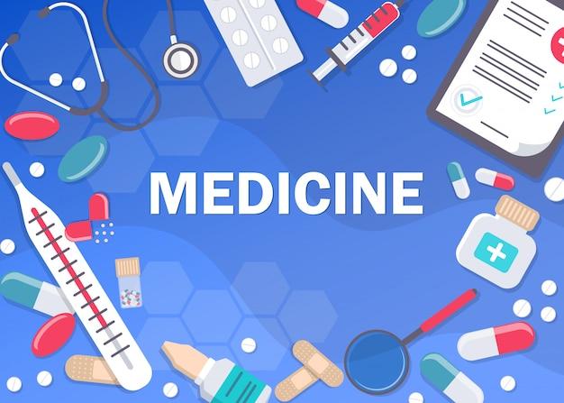 Milieux abstraits médicaux. bannière de médecine et de soins de santé, fond d'affiche avec espace de copie. médicament.