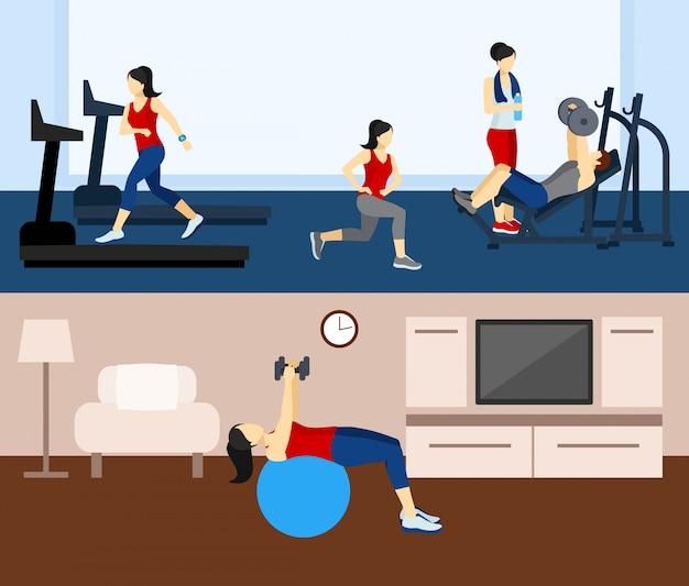Milieux d'entraînement de remise en forme