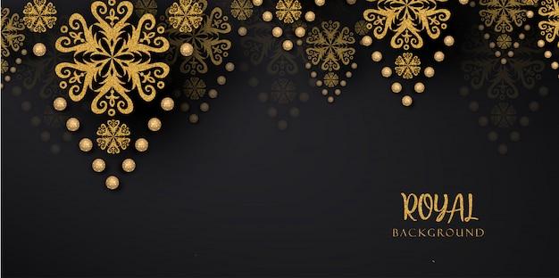 Milieux de luxe doré royal