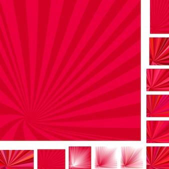 Milieux rouges avec des rayons