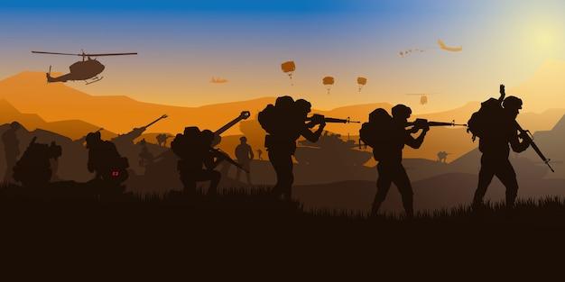Militaire, fond de l'armée.