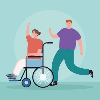 Des militants manifestent en fauteuil roulant