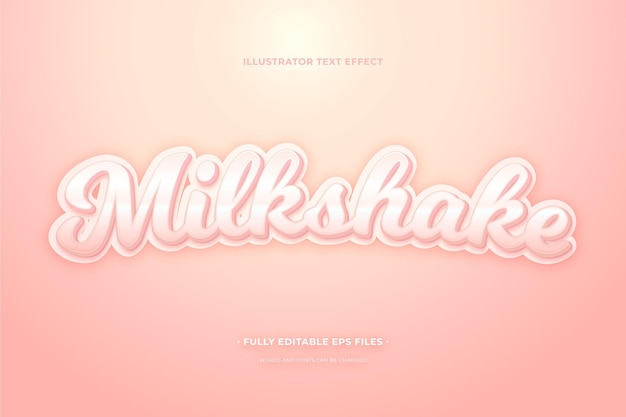 Milkshake à effet de texte
