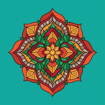 Millésime design mandala de fleurs