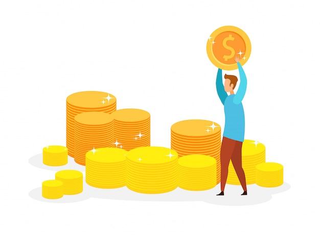 Millionnaire, illustration vectorielle de gagnant de loterie