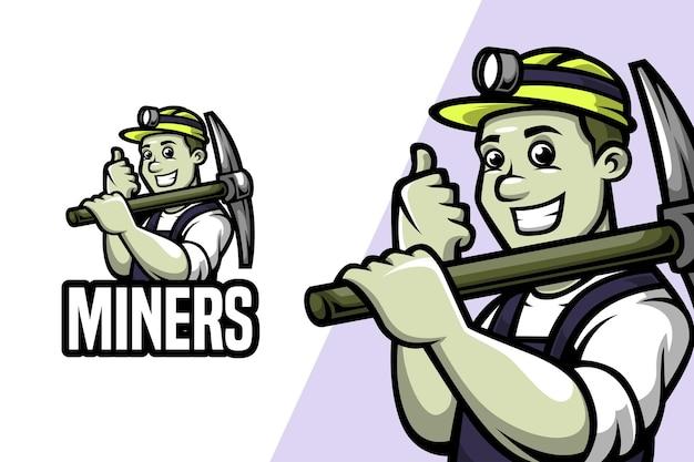 Mineurs - modèle mascotlogo