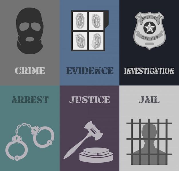 Mini affiches de police