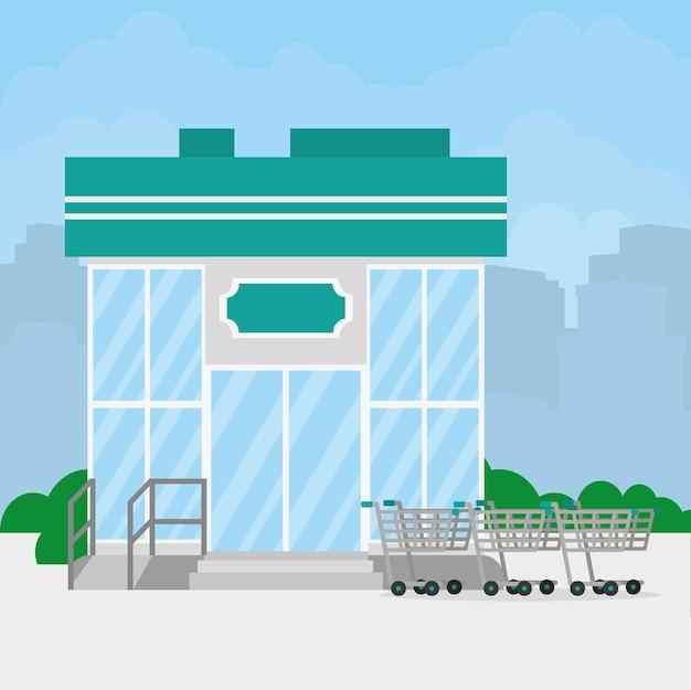 Mini-marché illustration