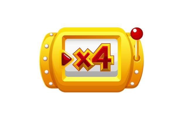 Mini roue dorée bonus spin pour les jeux ui. machine de fortune de casino d'illustration vectorielle pour la conception graphique.