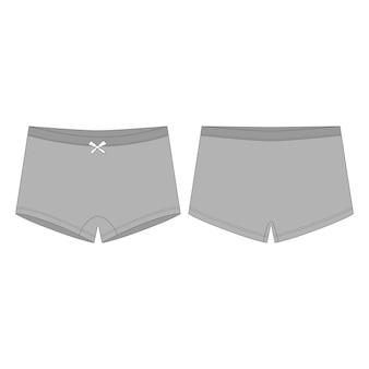 Mini sous-vêtements courts pour enfants.