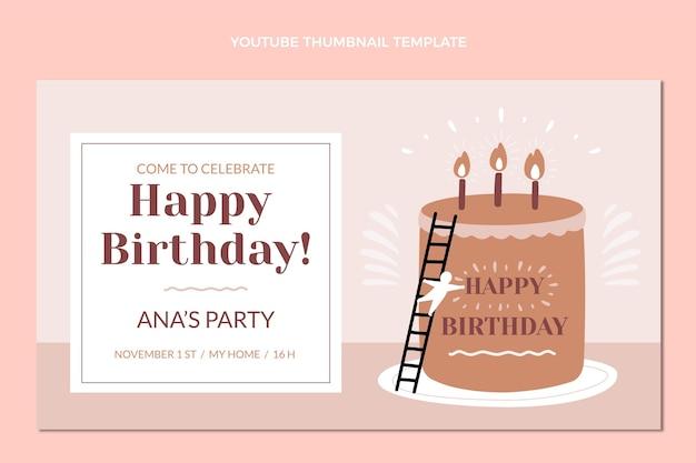 Miniature youtube anniversaire design plat