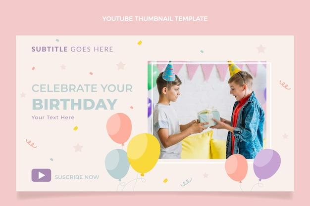 Miniature youtube anniversaire plat minimal