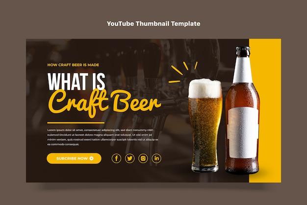 Miniature youtube de bière artisanale au design plat
