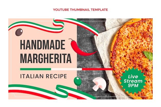 Miniature youtube de cuisine italienne plate