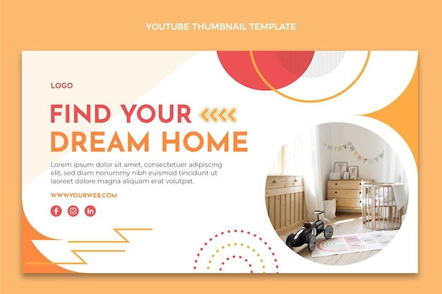 Miniature youtube design plat abstrait immobilier