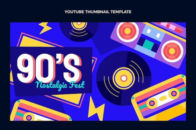 Miniature youtube du festival de musique des années 90 au design plat