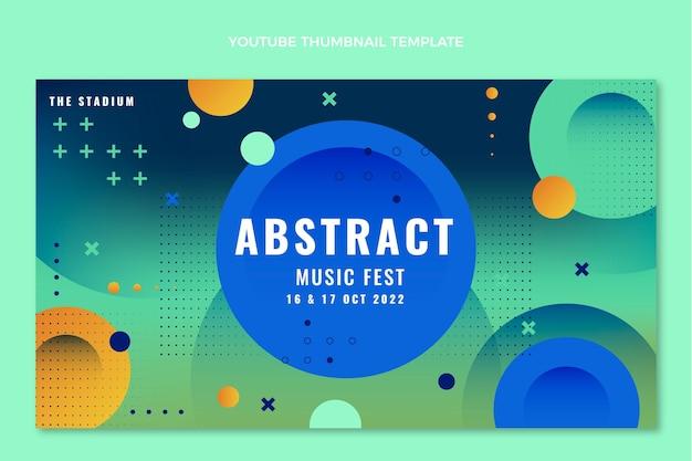Miniature youtube du festival de musique colorée