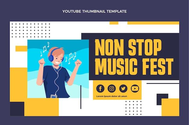 Miniature youtube du festival de musique design plat