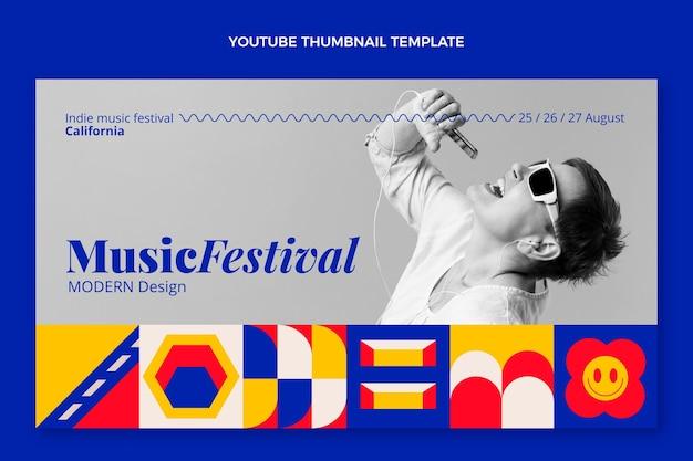 Miniature youtube du festival de musique en mosaïque plate