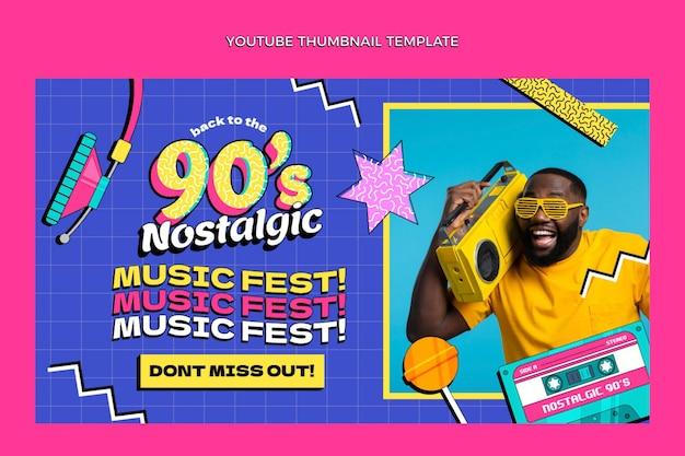 Miniature youtube du festival de musique nostalgique plat des années 90
