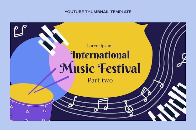 Miniature youtube du festival de musique plat