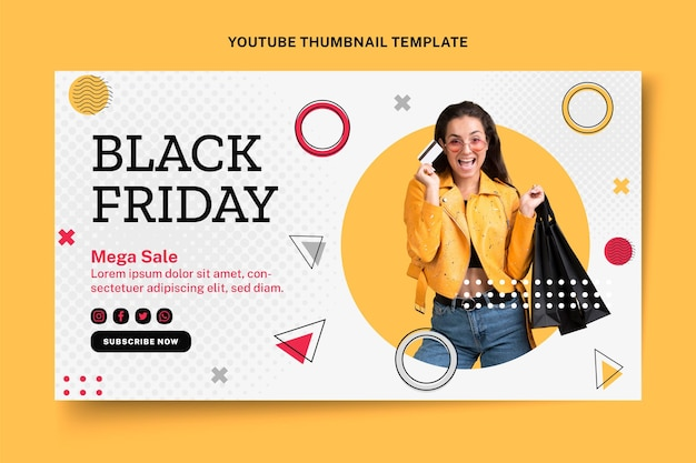 Miniature youtube du vendredi noir plat