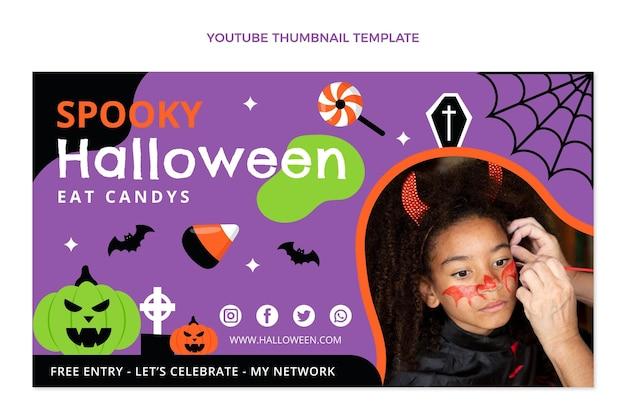 Miniature youtube halloween plat dessiné à la main