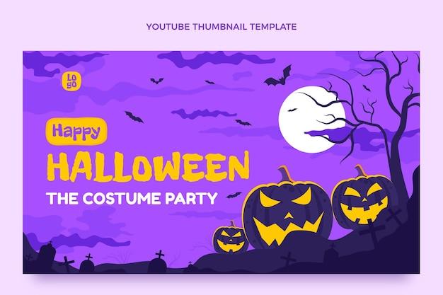 Miniature youtube d'halloween plat