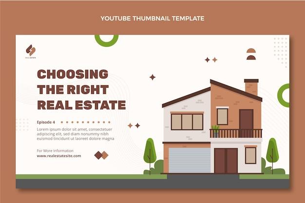 Miniature youtube de l'immobilier abstrait plat