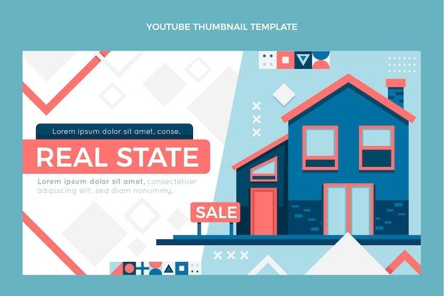 Miniature youtube de l'immobilier géométrique abstrait plat