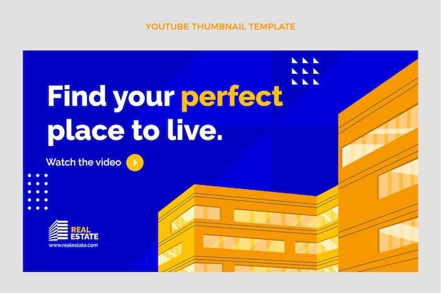 Miniature youtube de l'immobilier géométrique plat