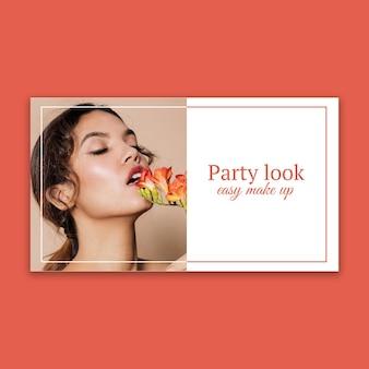 Miniature youtube de maquillage de fête élégante