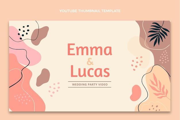 Miniature youtube de mariage abstrait aquarelle