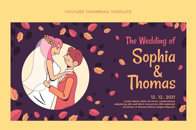 Miniature youtube de mariage dessiné à la main