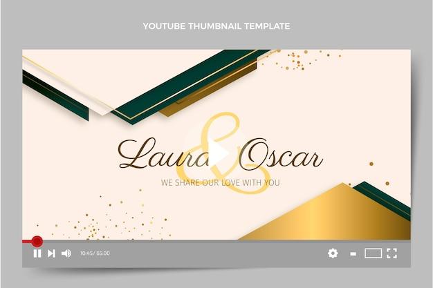 Miniature youtube de mariage de luxe réaliste