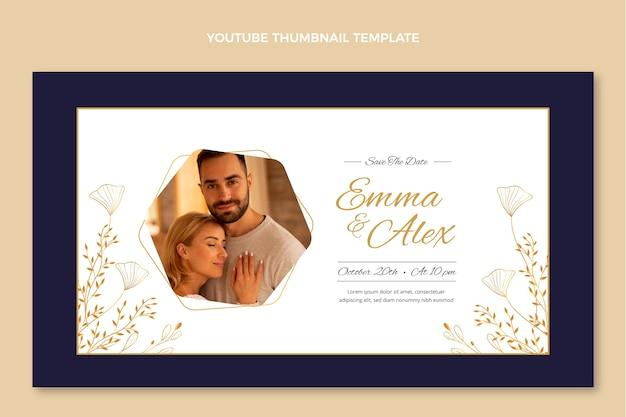 Miniature youtube de mariage d'or de luxe