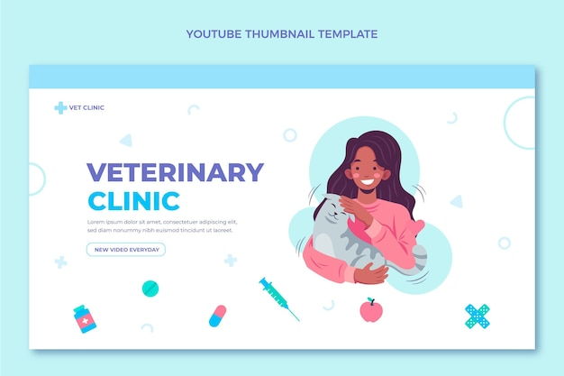 Miniature youtube médicale design plat