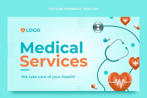 Miniature youtube médicale réaliste