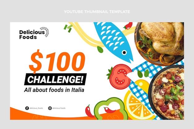 Miniature youtube de nourriture design plat
