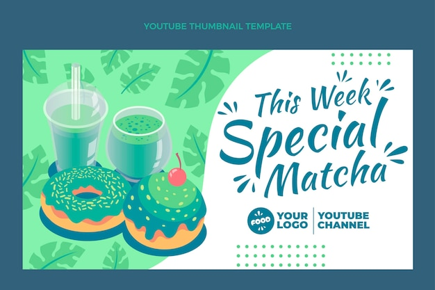 Miniature youtube de nourriture matcha plate